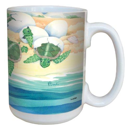 (Tree-Free Greetings lm43389 Sweet Sea Turtle Nestlings by Paul Brent Ceramic Mug with Full-Sized Handle,)