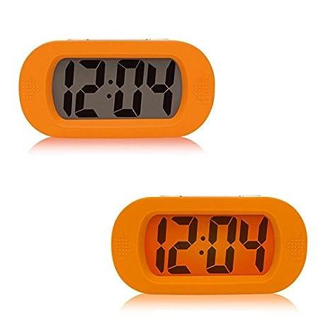 Alarm Clock Digital, Alarm Clock For Kids Bedroom Silicone LED Clock  Luminous Electronic Alarm Clock