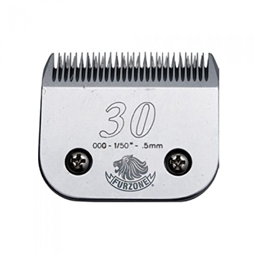 2 NEW BLADES Furzone #30 (000-1/50'' - 0.5 mm) barber beauty clipper blades compatible with Oster, Andis, Conair, Wahl, Laube, Thrive