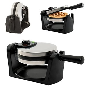 Gravitti Stainless Steel Rotary Belgian Waffle Maker