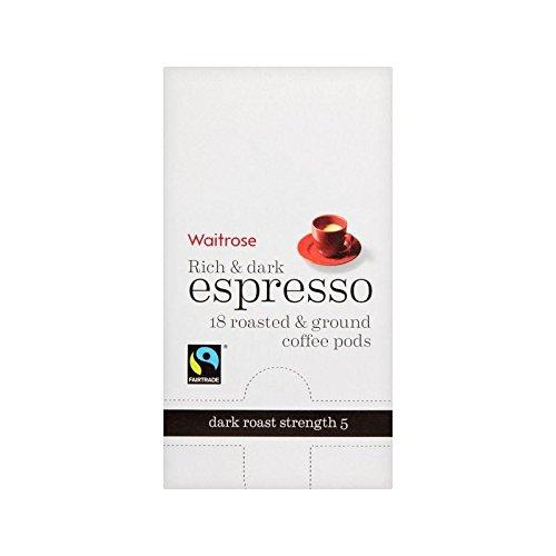Espresso Coffee Pods Waitrose 18 Per Pack