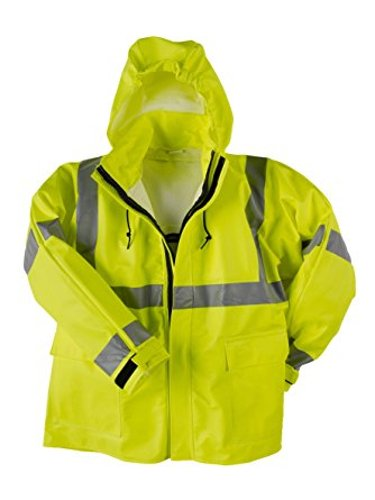 Tuck-Away-Hood Fluorescent Yellow Neese Industries Inc 21217-00-2-4XL-YL Neese Industries Style #217-AJ Flex Arc Stretchable Polyurethane//Fire Resistant Cotton Class 3 Jacket 4XL