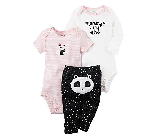 [Carter's Baby Girls' 3-Piece Panda Set Newborn] (Panda Outfits For Babies)