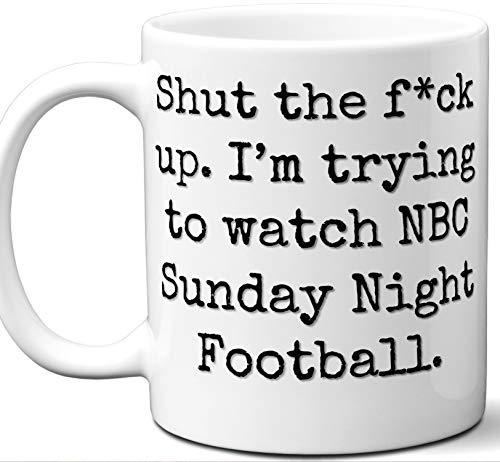 NBC Sunday Night Football Gift Mug. Funny Parody TV Show Lover Fan