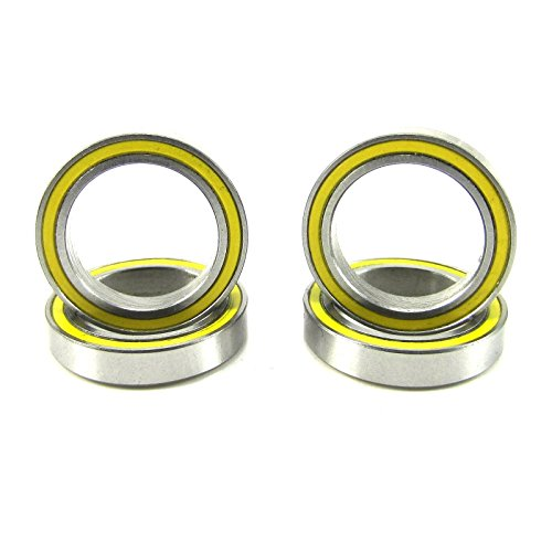 (4) 15x21x4mm Precision Ball Bearings ABEC 3 Rubber Seals (21 Engine Bearings)