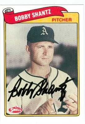 Autograph 120815 Philadelphia Athletics 1989 Swell No. 131 Baseball Greats Bobby Shantz Autographed Baseball Card (Bobby Shantz Autographed Baseball)