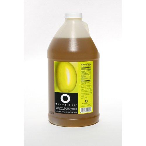 O Olive Oil - Organic Crushed Meyer Lemon Olive Oil - 0.5 gal (Pack of 2)