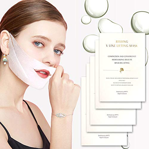 V Line Face Lift and Double Chin Reducer Intense Lifting Layer Mask, Lifting Patch for Chin Up & V Line, Double Chin Mask-V Lifting Chin Mask-Chin Up Mask ()
