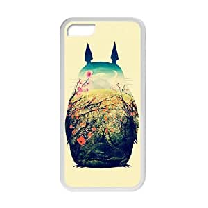 MEIMEIHand Painted Animal Cartoon Series Totoro Color Design Popular Coral Custom Luxury Cover Case For iphone 4/4s(White) with Best Silicon Rubber ALL MY DREAMSMEIMEI