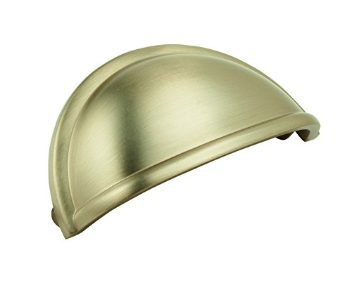Amerock BP53010BBZ Cup Pulls 3 in (76 mm) Center-to-Center Golden Champagne Cabinet Cup Pull - Center Cup Pull