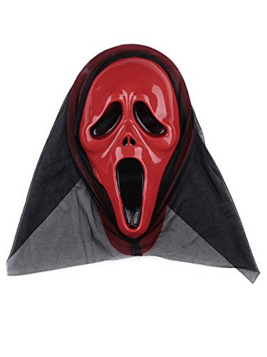 [Century Star Creepy Scary Ugly Halloween Costume Party Funny Head Mask Red Scream One Size] (Homemade Catwoman Costume For Children)