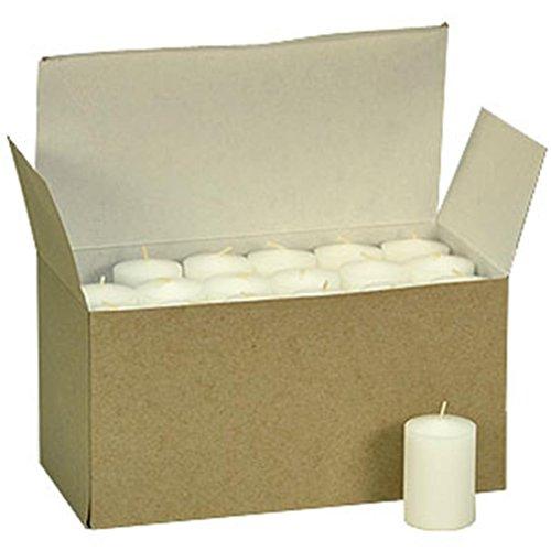 36 Pack White Unscented Votive Candles Bulk 15hr