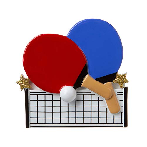 Personalized Ping Pong Christmas Tree Ornament 2019 - Table Tennis Player Racket Hit Ball Sport Net Junior Youth School Bar Game Friend Grand-Kid Child Holiday Tradition - Free Customization ()