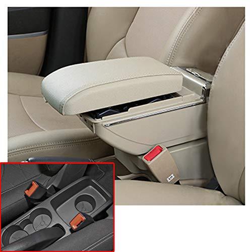 autotoper Armrest Box Adecuado Para Ford Fiesta 3 MK7 2009-2017 de Coche Asiento Consola Central Interior de Piel Para...