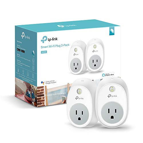 TP-LINK HS100 Smart Plug (2-Pack), Wi-Fi, Works with Alexa, Control Your Devices from Anywhere (HS100 KIT) (Tp Link Hs100 Smart Plug 2 Pack)