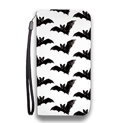 Bats Phone Wallet Flip Case - Vegan Friendly Leather   for iPhone, Huawei, LG, Google Pixel and Samsung Galaxy   Phone Strap and RFID -