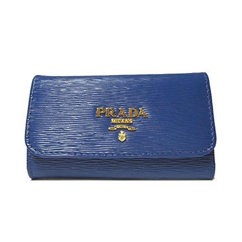 プラダ PRADA キーケース 1PG222 型押しレザー VITELLO MOVE/BLUETTE 【アウトレット】 [並行輸入品]   B07NZ6SX2V