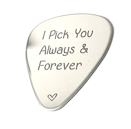 I Pick You Always & Forever · Custom Guitar Pick · Personalized Gift · Music lover - Customize You