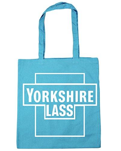 HippoWarehouse Yorkshire Mädel Einkaufstasche Fitnessstudio Strandtasche 42cm x38cm, 10 liter - Damen, Surfen Blau, One size