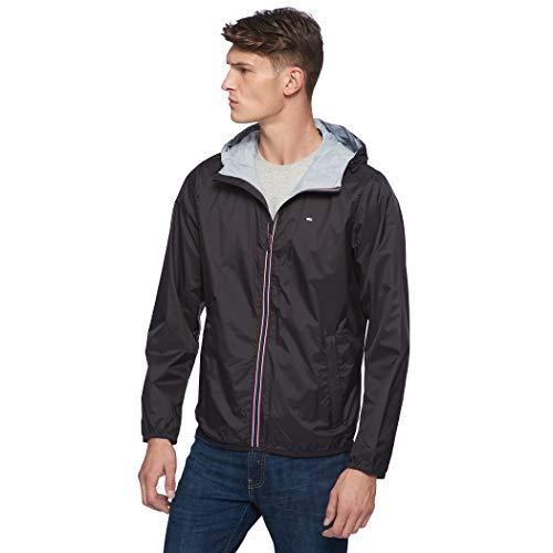 - Tommy Hilfiger Men's Active Rain Slicker Jacket with Tricolor Zipper, Black, Medium