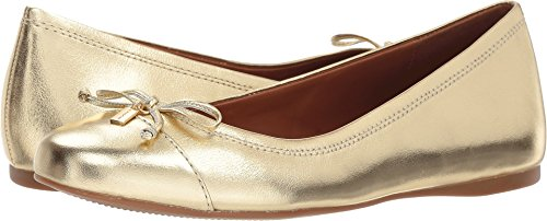 Coach Women's String-Tie Ballet Gold Metallic Leather 9 M ()