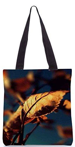 Snoogg Blätter im Herbst 13,5 x 15 Zoll-Shopping-Dienstprogramm-Einkaufstasche aus Polyester-Segeltuch gemacht