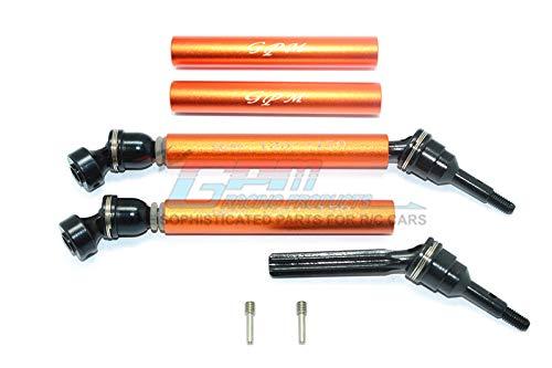 GPM Traxxas Revo / Summit / E-Revo Upgrade Parts Steel+Aluminum Front/Rear Universal Swing Shaft Washers & Wheel Hubs - 1Pr Set Orange