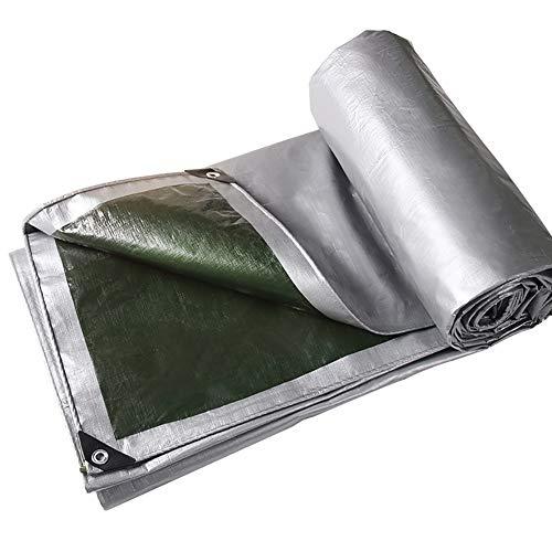 非行業界浴GUOWEI-pengbu ターポリン 布 防水 不凍液 絶縁 屋外 (色 : シルバー しるば゜, サイズ さいず : 5.8x5.8m)