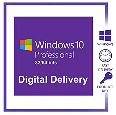 Windows 10 Professional 32/64 Bit - Retail Key - Download Link - Full Languages - Lifetime - Email Delivery within 24hrs