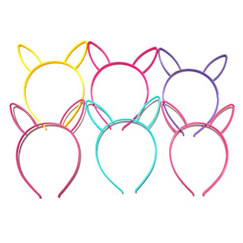 Manc GG Boutique Bunny Rabbit Ear Headbands Hare Headwear Hair Head Bands Hair Accessories Wash Face Hairlace, Makeup Hairband Party Tool for Women and Girls Plastic 6 (Sexy Bunny Makeup)