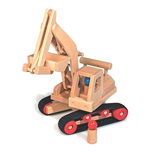 Fagus Wooden Excavator Tractor (18 Inch)