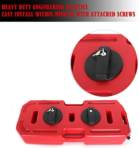 2pcs Oil Mounting Lock 5gallon Gas Tank Cans Lock/Pack Mount Lock for 20L red Fuel Tank Barrel EBESTauto Gas Can Mount