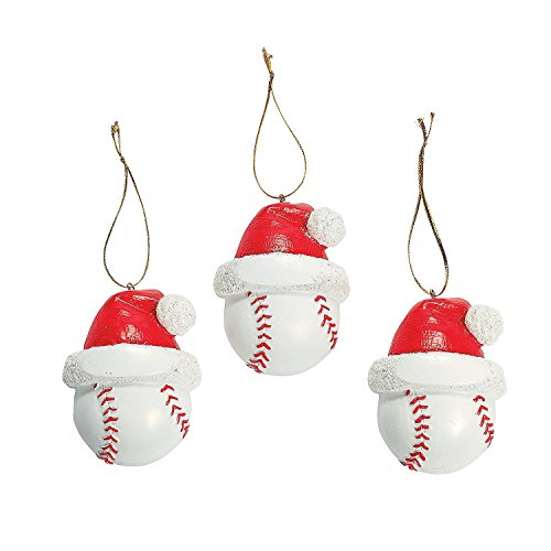 Baseball Christmas Ornaments 1 Dozen -