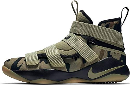(Nike Men's Lebron Soldier XI Flyease Basketball Shoes Neutral Olive Size 11.5)