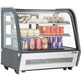 Vitrine réfrigérée professionnelle - inox - 160 litres - 160w - 230v - neuve - equipementpro