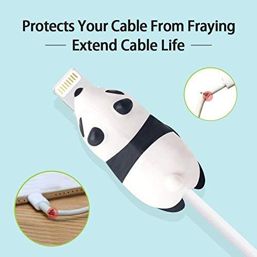 Cable Bites Animals Protector(8PCS) - Cute Cable Biters Charging Cable Protector Lightning Cable Accessory for iPhone iPad MAC(2 Glow in The Dark and 6 Normal Cable Bite) (8pcs)