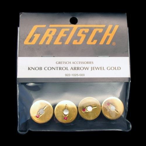 Gretsch Gold Arrow Jewel Guitar Knobs - Set of 4