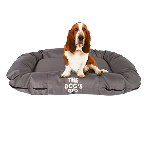 The Dog's Bed, Premium Water Resistant Dog Bed, M to XXL Quality Oxford Fabric, Removable Washable Cover, Dog Beds Home Car Crate & Outside, Puppy & All Pet Comfort