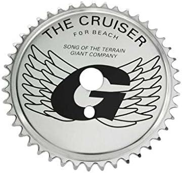 Lowrider スチール自転車スプロケットジャイアント 1/2X1/8X44T ブラック/クローム バイクパーツ 自転車パーツ バイクアクセサリー 自転車アクセサリー