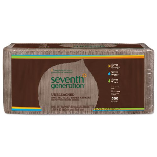 Seventh Generation Napkins 1-ply Unbleached Recycled - 500 Sheets