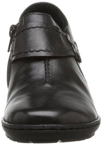 Rieker 57152-43 57152-43 - Zapatos clásicos de cuero para mujer Negro (Noir (00 Noir))