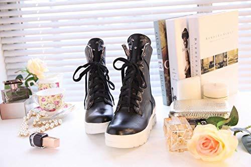 Bottes Plates Chaussures Anti Noir Avec Des Femme Martin dérapantes Xdx HXOwg4