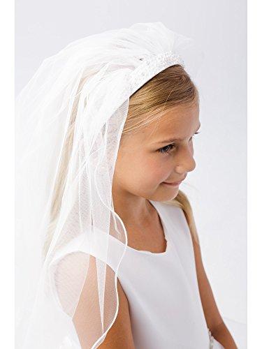 Girls Ivory Embellished Communion Flower Girl Stylish Headband -