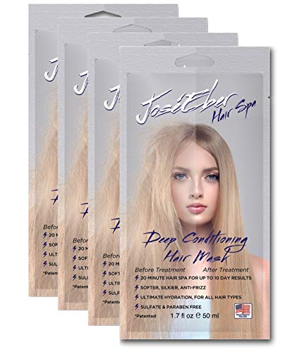 Jose Eber Hair Spa Deep Conditioning Hair Mask – 20 Minute Hair Spa for Up To 10 Day Results, Softer, Silkier, Anti-Frizz, Ultimate Hydration, For All Hair Types, Sulfate Paraben Free, 1.7fl oz