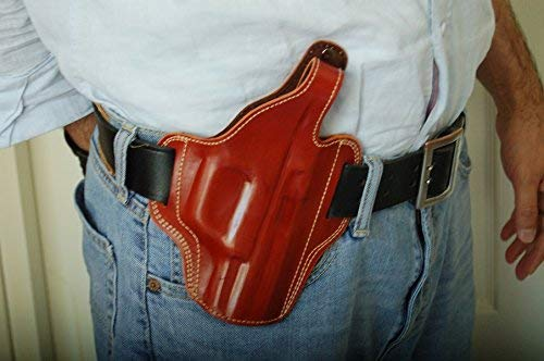 cal38 Leather Belt Handcrafted Holster for Sig Sauer P220 P225 P226 P227 P228 P229 P320 SP2022 Tan Black RH (TAN)