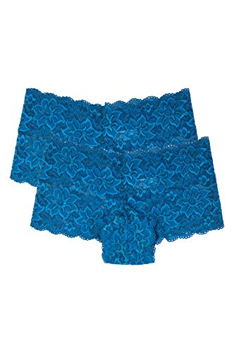 (Women's Premium Lace Hipster Panty (2 Pack) (Medium, Turquoise))