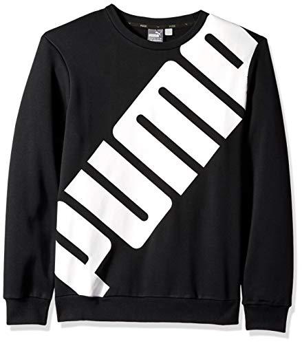 PUMA Men's Big Logo Crewneck Sweatshirt, Cotton Black S ()