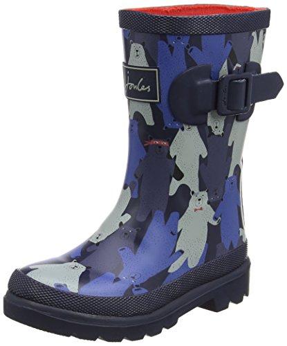 Joules Youth Black Multi Bear Camo Wellington Boots-UK 1 ()