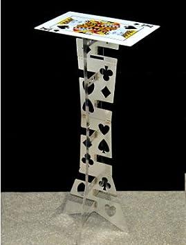 Doowops Magic Folding Table (Alloy) - Color Plata (Mesa de póquer) La Mejor Mesa de Mago, Truco de Magia, Magia de Escena, ilusiones, Accesorios: Amazon.es: Juguetes y juegos