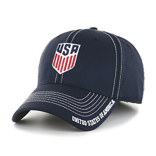 fan products of World Cup Soccer United States Start Line OTS Center Stretch Fit Hat, Navy-US Men's Team, Medium/Large